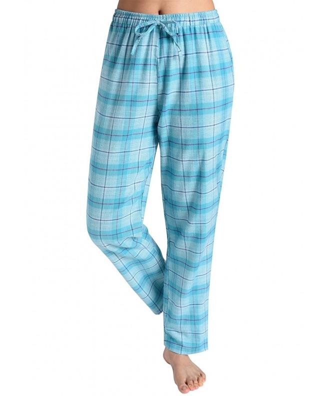 Latuza Womens Pajama Bottoms Turquoise