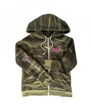 Jessies Printed Eco Fleece Zip up Hoodie