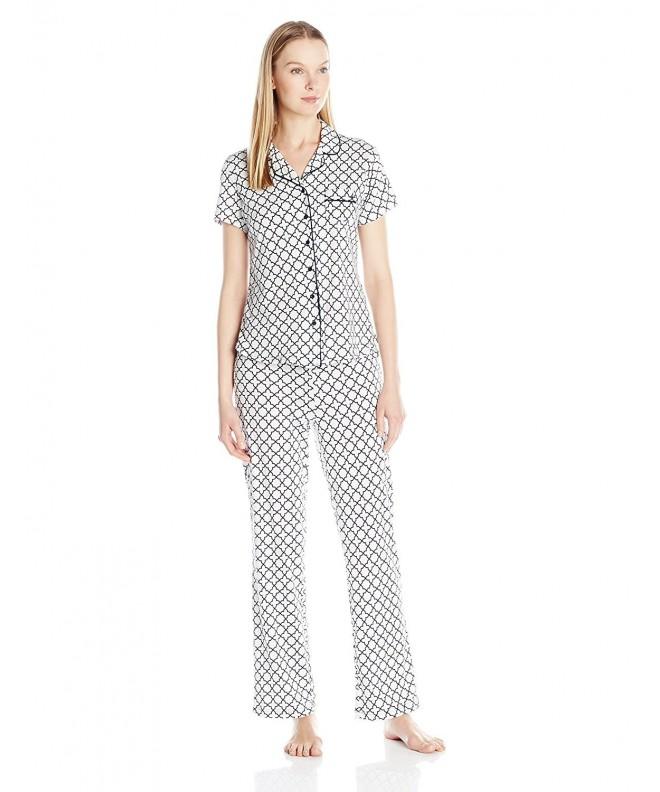 Nautica Sleepwear Womens Trellis Whitecap