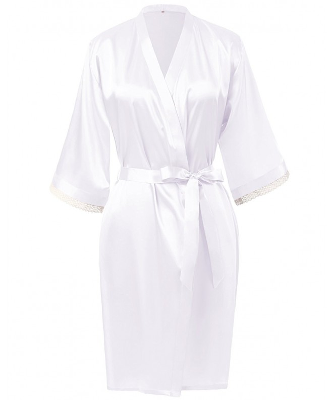 Find Dress Silky Kimono 10180WhiteM
