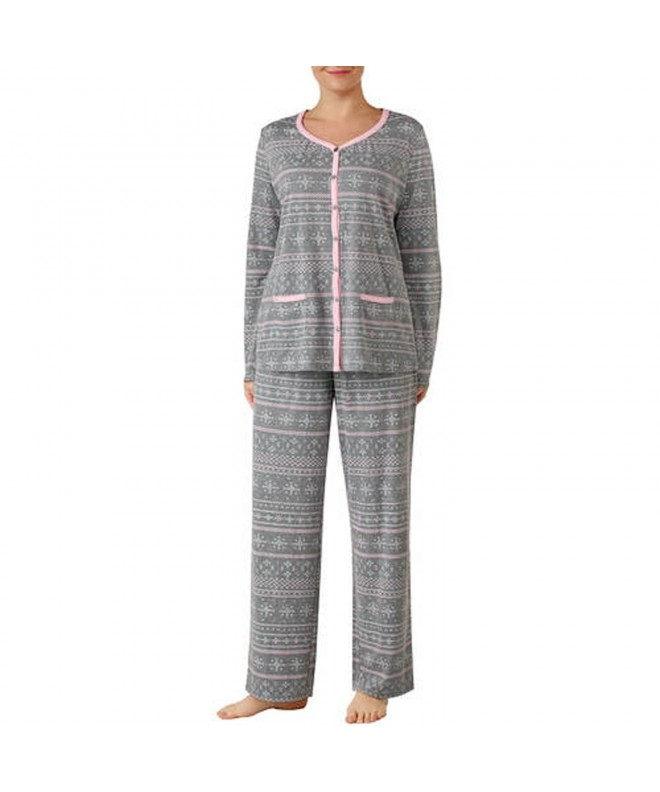 Secret Treasures Pattern V Neck Pajama