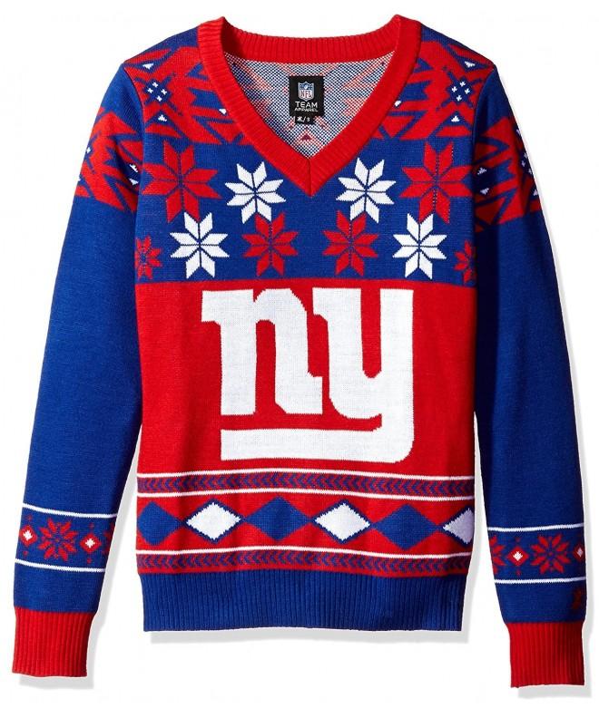 Womens V Neck Sweater Giants Medium