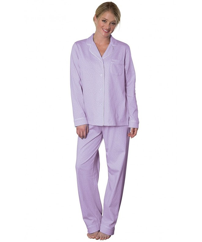 PajamaGram Oh So Soft Womens Pajamas Lavender