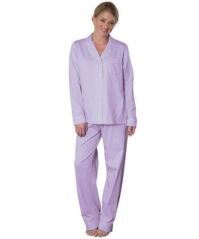 PajamaGram Oh So Soft Womens Pajamas Lavender