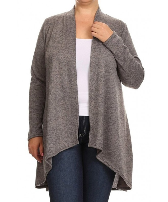 Womens Plus Closure Cardigan Sweater
