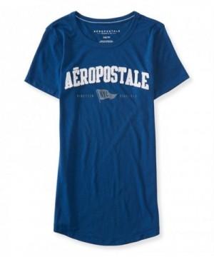 Aeropostale Womens Flag Embellished T Shirt