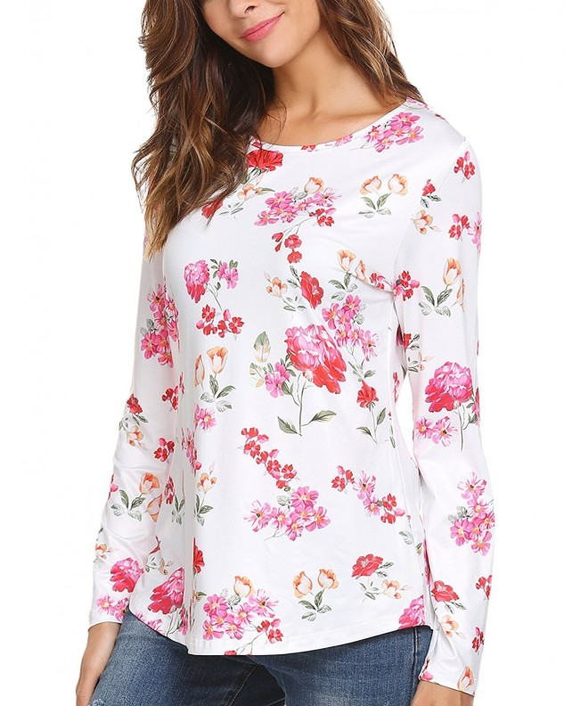 Casual Sleeve Flower Asymmetrical T shirt