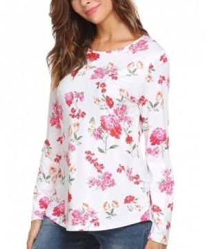 Casual Sleeve Flower Asymmetrical T shirt