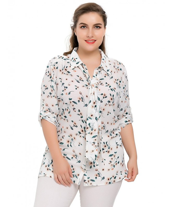Chicwe Womens Casual Chiffon Blouse
