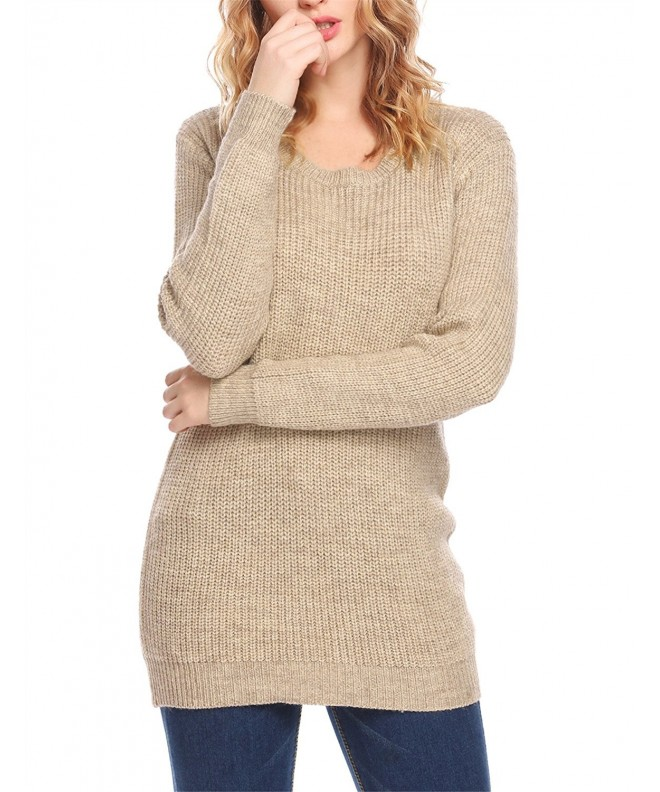 Zeagoo Womens Crewneck Pullover Sweater