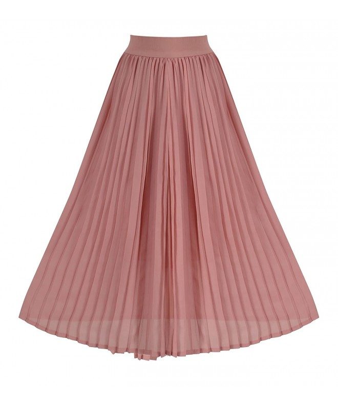 Howriis Womens Summer Chiffon Pleated
