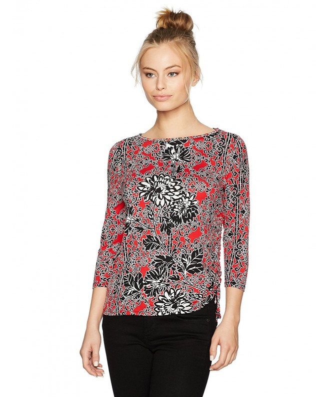 Ruby Rd Embellished Printed Ruching