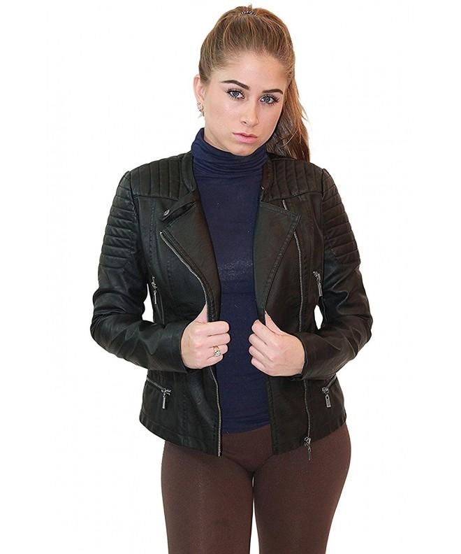 Olivia Miller Womens Leather JK5207S