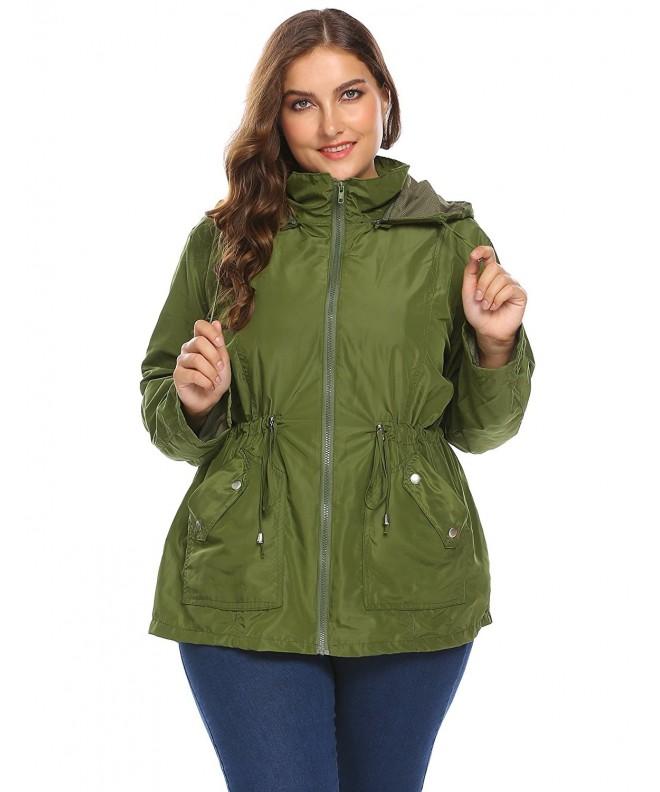 Zeagoo Lightweight Raincoat Windproof Waterproof