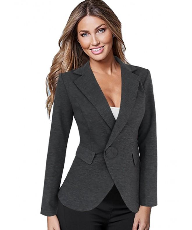 Vfemage Womens Button Pockets Jacket