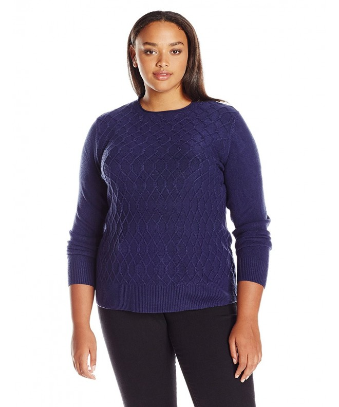 Sag Harbor Braided Cashmerlon Sweater