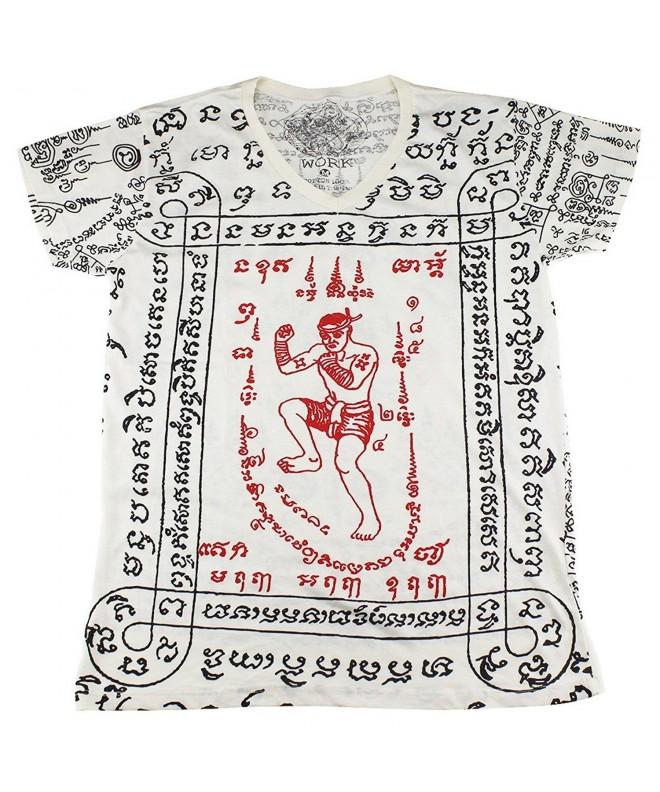tattoo kickboxing T Shirt White WK13