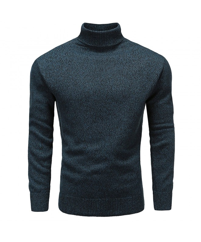 Turtleneck Sleeve Pullover Cotton Sweater