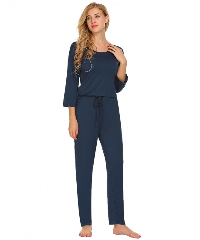 Ekouaer Womens Sleeves Jumpsuit Playsuit