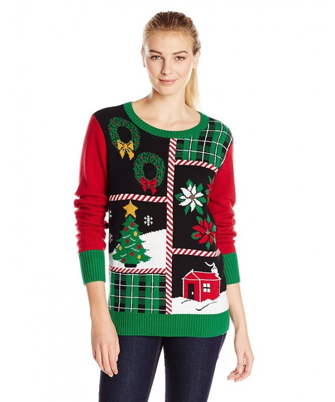 Ugly Christmas Sweater Patchwork Light UP