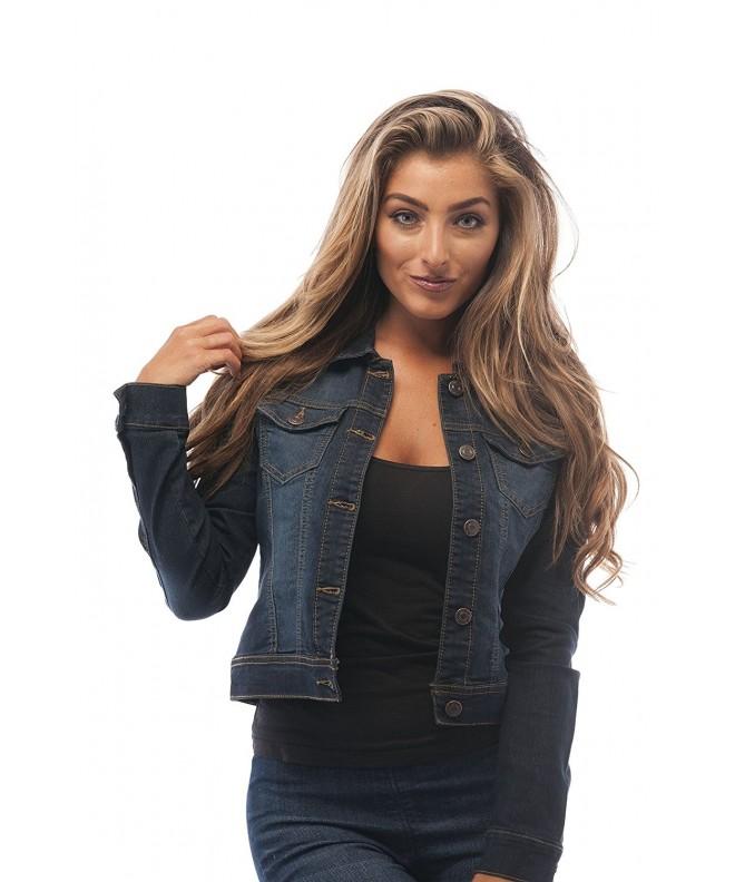Womens Button Jacket Medium DarkBlue