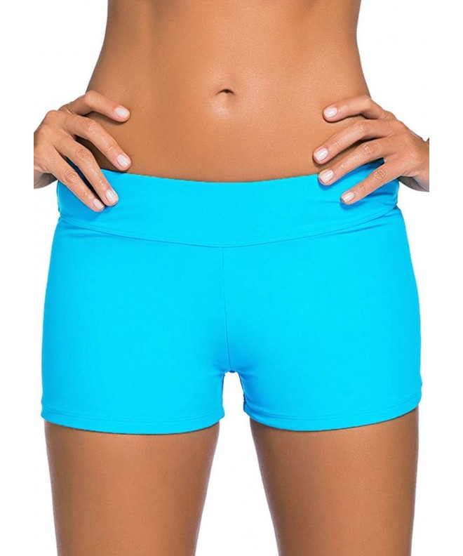 Sisiyer Womens Waistband Swimsuit Bottom