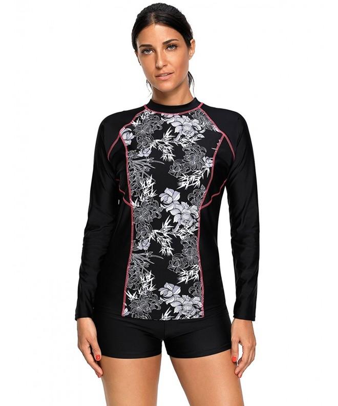 Maketina Womens Rashguard Swimwear Athletic