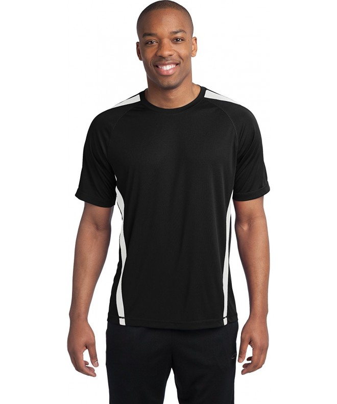 Sport Tek T Shirt Black White XL Tall