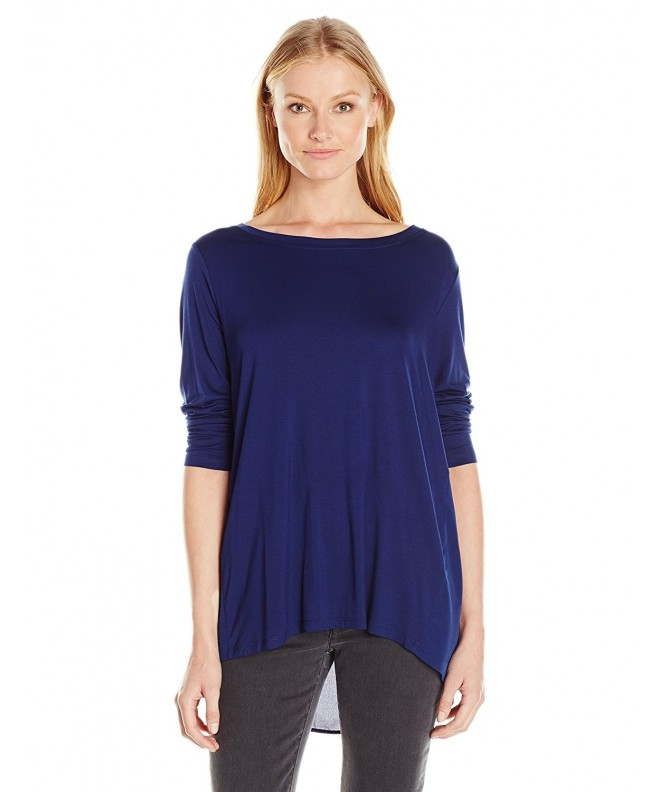 NYDJ Womens Mixed Blouse Nightshade