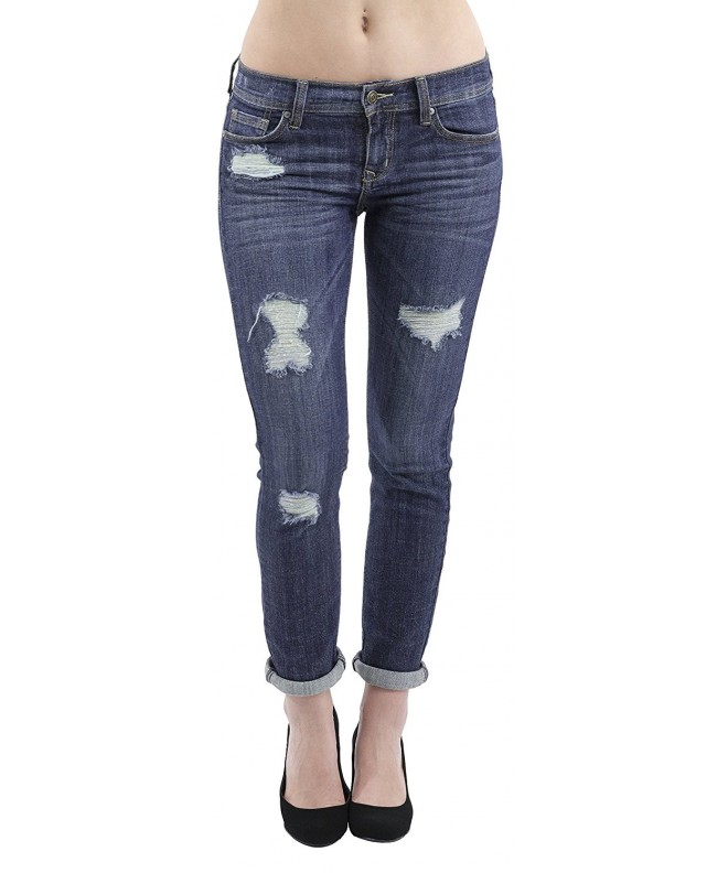 Eunina Relaxed Stretch Jeans Distress