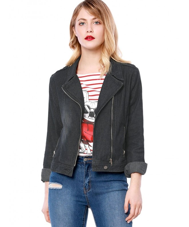 Allegra Womens Notched Asymmetric Jacket