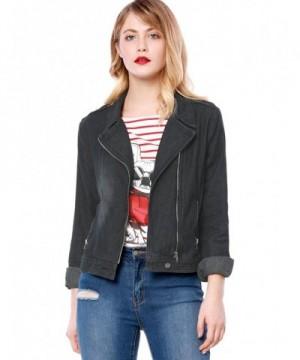 Allegra Womens Notched Asymmetric Jacket