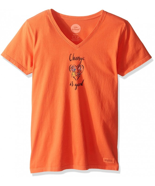 Life Crusher Change T Shirt Orange