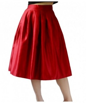 YSJ Womens Skirt Line Pleated
