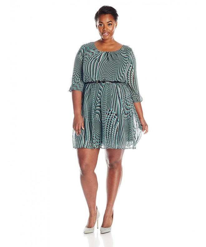 AGB Womens Printed Dress Multi