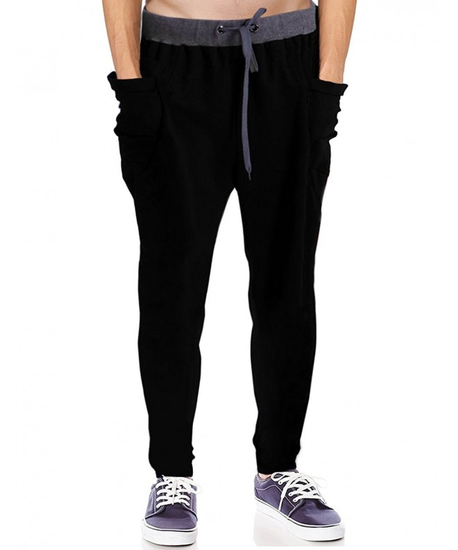 HDE Crotch Active Running Sweatpants