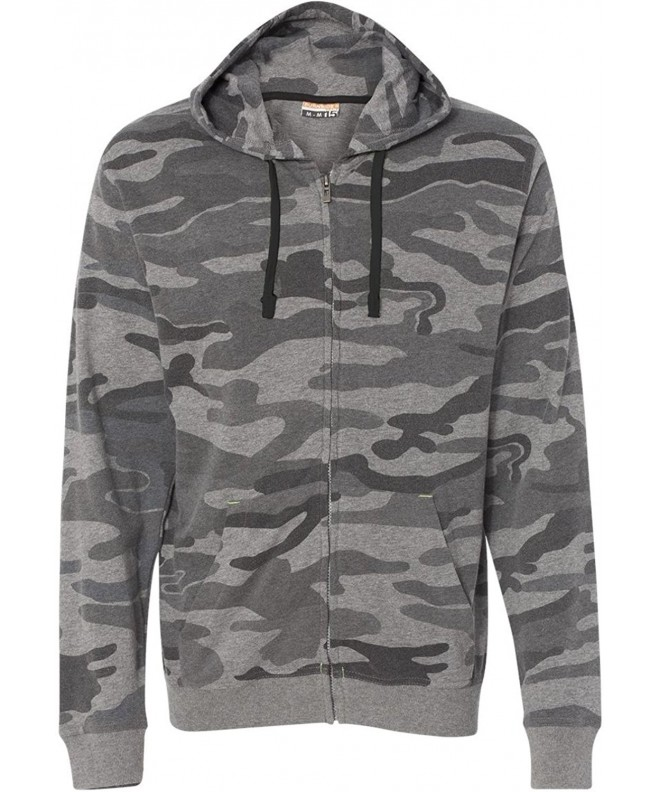 Burnside Camo Full Zip Hooded Sweatshirt B8615