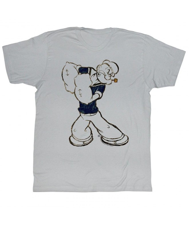 Popeye Paunch T Shirt Medium Silver