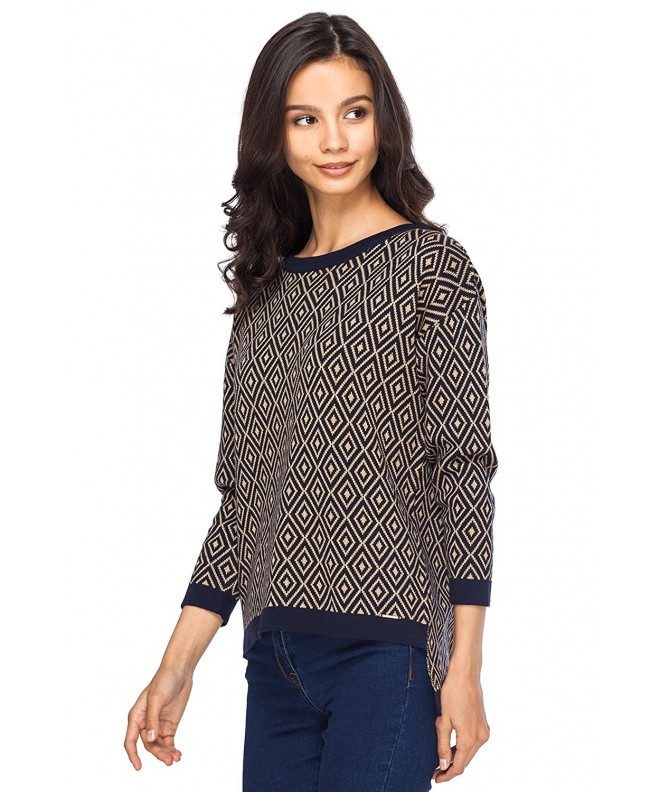 VILATTE Sleeve Knitt Pullover Sweater