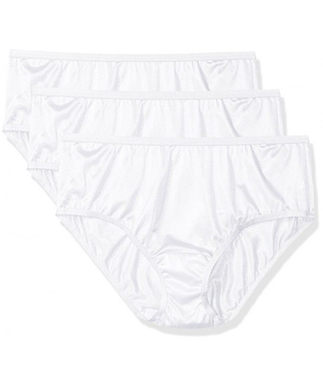 Shadowline Womens Panties Nylon Hipster White