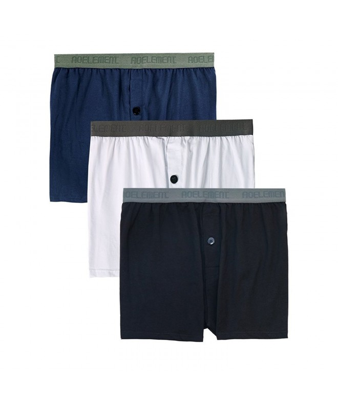 Underwear Classic Cotton Boxers Exposed Waistband