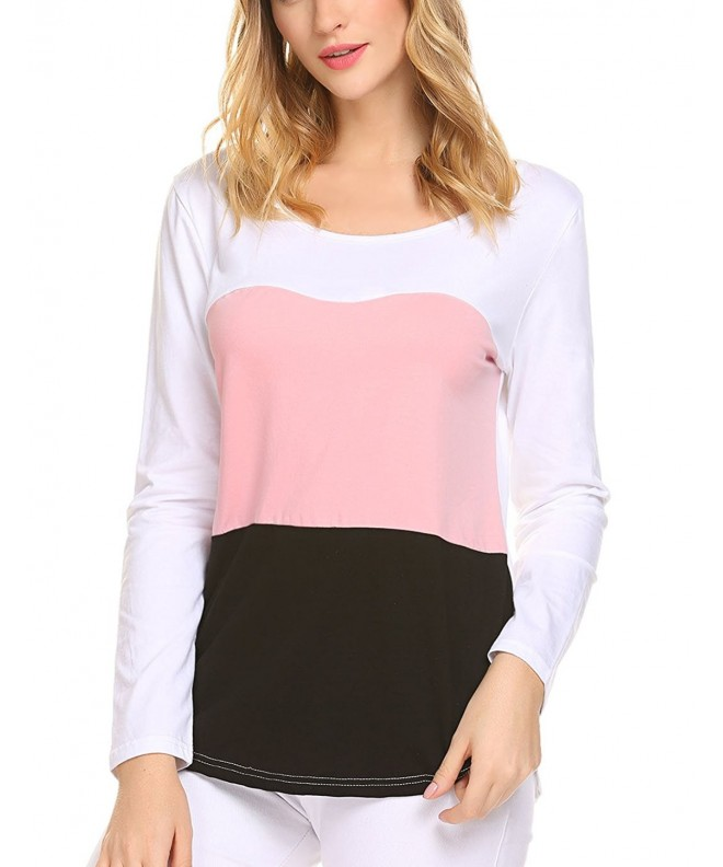 Sweetnight Womens Casual Blocking Striped