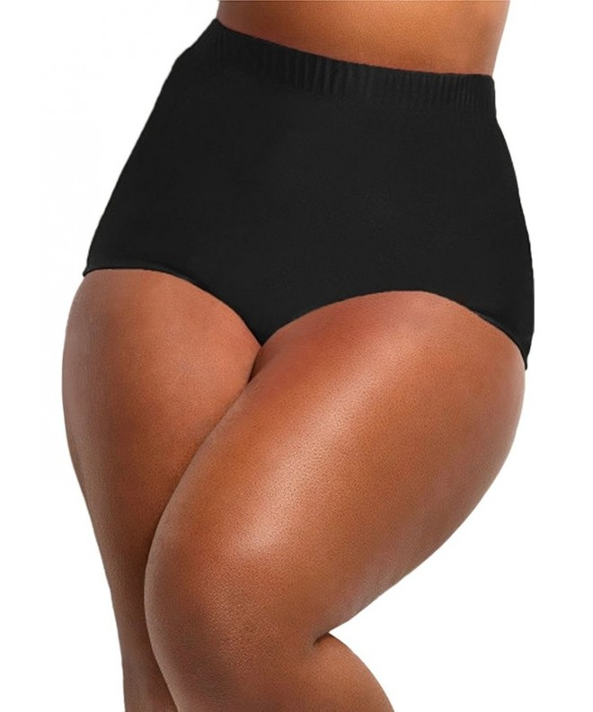 Waisted Bottoms Swimsuit Coverage Swimwear