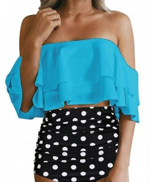 Shoulder Swimsuit Ruffle Waisted Bikini