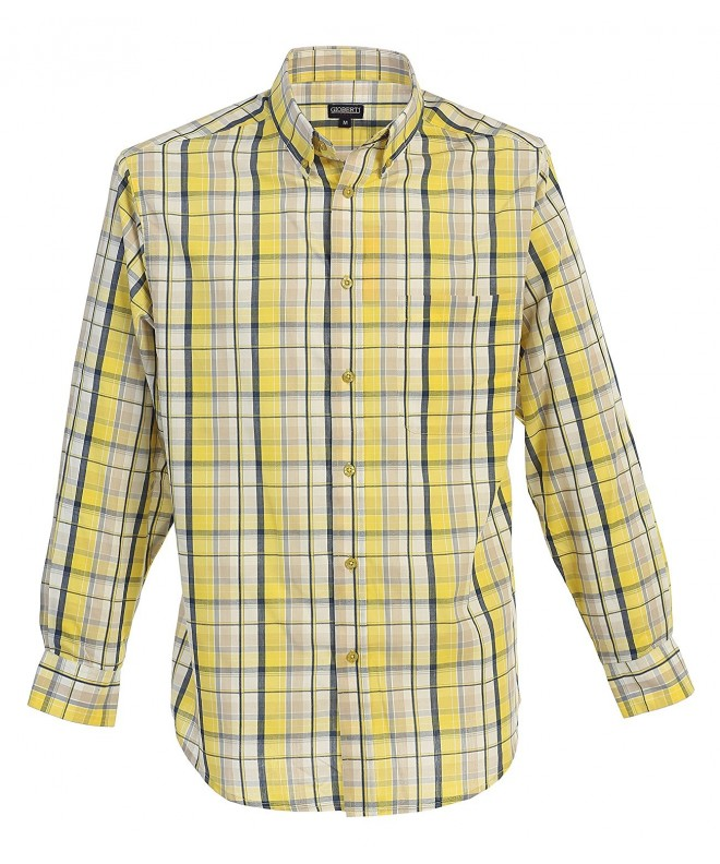 Gioberti Sleeve Plaid Yellow Medium