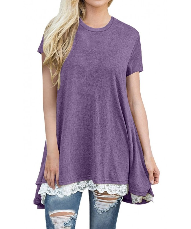 Anicco Womens Sleeve Casual Purple XL