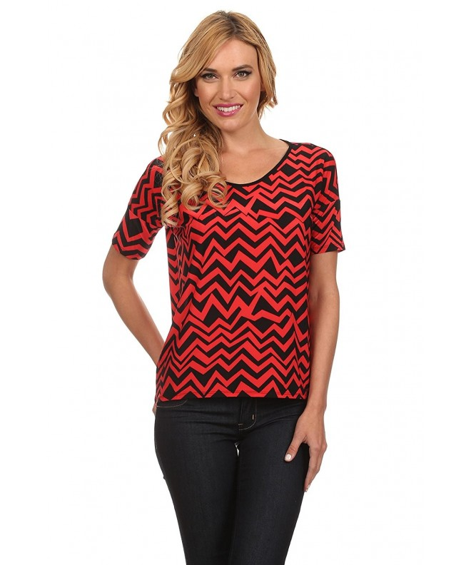 Womens Printed Shirts Fitting Chevron