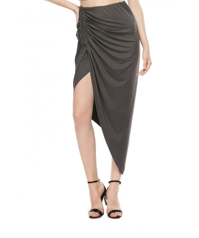 DISBEST High Low Asymmetric Stretchy Bodycon