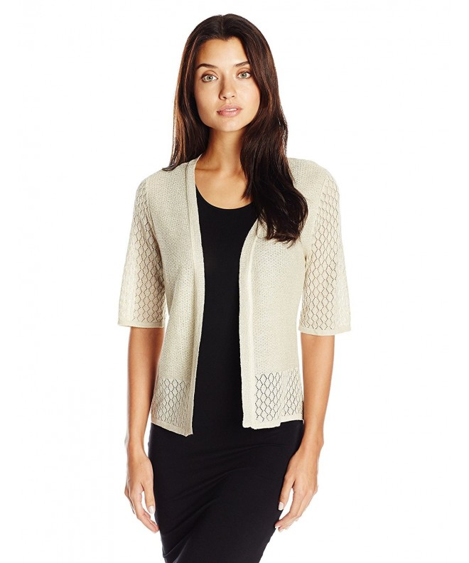 Robbie Womens Sleeve Cardigan Natural