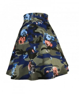 Modeway Womens Floral Pleated Camouflage